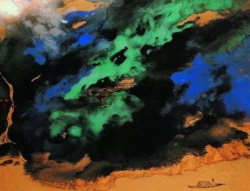 欣赏,张大千50幅最经典的泼彩山水!